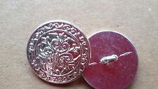 Metallknopf versilbert filigrane Musterung silver plated Button кнопка gomb 20mm