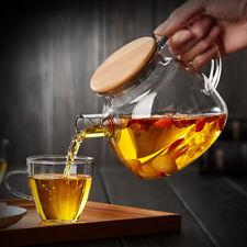 Tea Set Pot Kettle Drinkware Glass Teapot Stainless Steel Infuser Strainer Tools