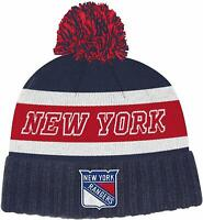 New York Rangers adidas NHL Culture Cuffed Winter Knit Hat with Pom