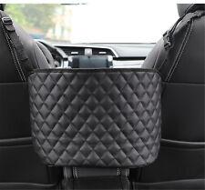 Advanced Car Net Pocket Handbag Holder Between Car Seat Storage PU Leather Black