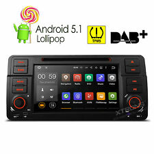 Android 5.1 Car DVD GPS Navigation 1 DIN Radio Stereo OBD2 for BMW 3 Series E46