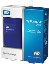 WD 500GB Blue My Passport Ultra HDD External Hard Drive USB 3.0 WDBWWM5000ABL
