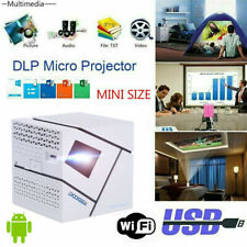 1080P Android Portable Mini Wireless WiFi Home Movie Video Projector Smart Cube