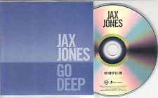 JAX JONES Go Deep 2014 UK 1-track promo test CD