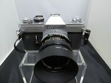 Canon FTb QL 35mm Camera Body with 50mm 1:1.8 Lens WORKING