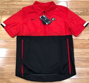 $70 NEW Nike Georgia Bulldogs Football Coach Windbreaker Men's S CQ5160-657
