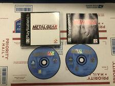 METAL GEAR SOLID SONY PLAYSTATION 1 1999 PS1 CIB BLACK LABEL COMPLETE /W REG CRD