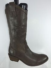$358.99 Frye Womens Brown Leather Cowboy Boots 8 B