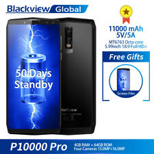 Blackview P10000 Pro 4*Kameras Smartphone 4G+64GB 4G Fingerprint Handy 11000mAh