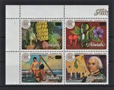 AITUTAKI COOK ISLANDS 1983 -COMMONWEALTH DAY BLIGH OHMS Mi 456-459 BLOCK MNH** S