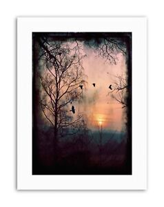 GOTHIC FOREST CROWS D Poster Picture Painting Canvas art Prints