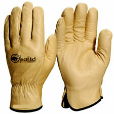 Safety Leather Work Gloves High Quality HGV Drivers Fork Lift Truck Gardening