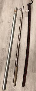 VTG Fenwick Feralite FF85 2pc 8 1/2' Fly Fishing 4 1/8 ozRod + Sock & Metal Tube