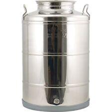 28 Gallon Fusti Tank - Stainless Fermenter Boil Kettle Still Beer Wine Moonshine