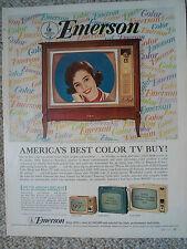 1964 EMERSON Color Console TV Color Magazine Ad