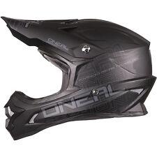 NEW ONEAL MX 2018 3 Series MATTE BLACK Dirt Bike Adult Motocross Helmet