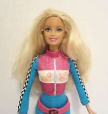 Mattel 1998 Barbie Doll wearing a blue outfit and pink belt