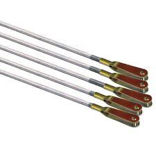 """RC Pushrod 12"""" 300mm 30cm Push Rod M2 Threaded WITH Clevis x 5 - DAR53"""