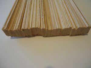 ca. 100 Stück Fichte 0,5-2x24mm 75cm lang Holz Leiste Modellbau