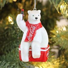 Coca-cola Polar Bear ICEBOX Personalized Christmas Tree Ornament  KURT