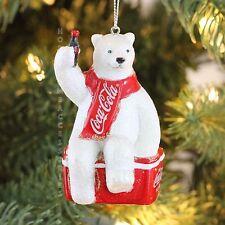 Coca-cola Polar Bear ICEBOX Personalized Christmas Tree Ornament  KURT