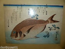VERY OLD CHINESE FISH PICTURE - LOTS OF CHARACTER MARKS AND RED SEAL MARK - RARE