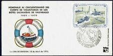 CHILE 1975 FDC COVER # 865/8 SHIPS VALPARAISO 'S LIFE BOATS LIGHTHOUSE