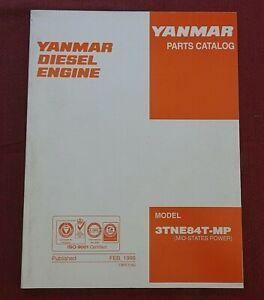Originale YANMAR 3TNE84T-MP Motore Diesel Parti Manuale Catalogo Carino Forma
