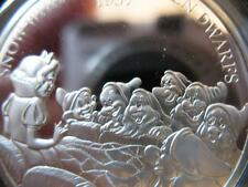 1 OZ.999 SILVER SNOW WHITE 7 DWARFS VERY RARE DISNEY MASTER PIECES # PROOF COIN