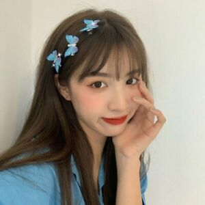 3PCs Hair Clip Butterfly Barrette Hair Band Pin Hairpin Headdress Fairy for Girl