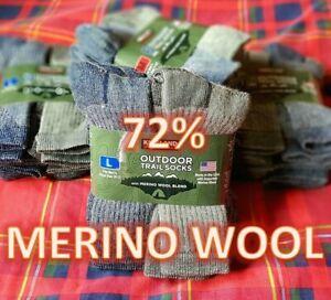 Kirkland Signature 72% Merino Wool Outdoor Walking Hiking Trail Socks