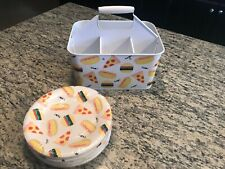 Sun Squad BBQ Utensil Caddy & Matching Paper Plates NWOT