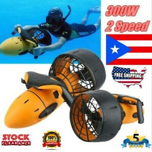 Electric Underwater Scooter Waterproof 300W Dual Speed Propeller Scuba Diving
