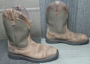 Mens ARIAT Groundbreaker Wide Square H2O Steel Toe Work Boots 9.5 D