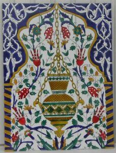 "Tunisian / moroccan ceramic tiles / hand painted tiles 23,63"" X 17,72"""