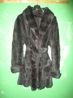 Genuine Rabbit fur wrap coat very soft and warm little wear vintage treasure