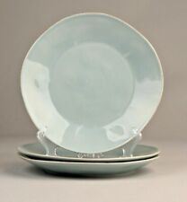 "(3) Blue CRATE & BARREL MARIN Dinner Plates, 10.5"" EUC  Quick Ship"