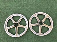Skyway Tuff II Wheels Minus The Hubs Old School Vintage BMX