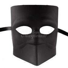 Blank Masquerade Mask - Bauta Venetian Cosplay Costume DIY Mask M33163 [Black]