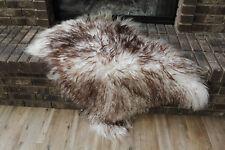 Genuine Icelandic Sheepskin Rug Throw – shade of brown - curly pile