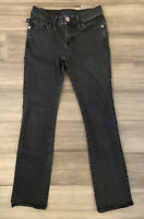ROCK & REPUBLIC Women's Black Kendall Cotton Blend Straight Denim Jeans-Size 2