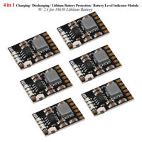 6x 2A 5V Charge Discharge Module 3.7V 4.2V for Lithium Battery PCB Board Module