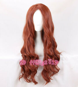 2020 new movie black widow cosplay wig long wavy curly hair wig + a wig cap