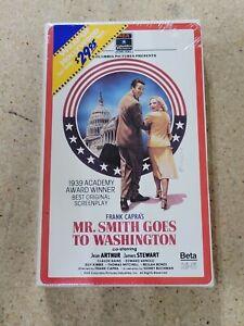 Mr. Smith Goes To Washington NEW Sealed Betamax Tape 1986 Release w/Watermark
