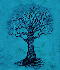 Blau & Schwarz XL Lebensbaum Tagesdecke Bettüberwurf Picknickdecke Wandbehang