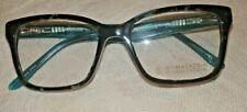 NEW Women's Frame & Clear Lenses BCBG MAX AZRIA Flavia Teal Tortoise