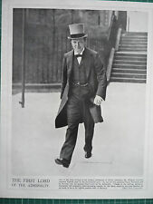"""WW1 PRINT. """" THE FIRST LORD OF THE ADMIRALTY."""" MR. WINSTON CHURCHILL"""