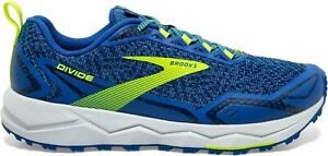 Brooks Divide Trail Running Shoes Mens Off-Road Grip Trainers Blue UK 8 EUR 42.5