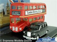 LONDON TAXI & BUS CAR MODEL GIFT SET ROUTEMASTER FX4 1:76 SIZE OXFORD LD004 T4