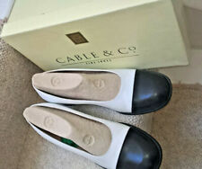 CABLE & Co Navy and white, wide heels for comfort size 5, hight of fashion, good